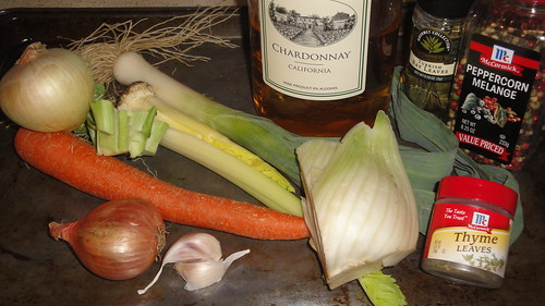 Ingredients for a vegetable broth 蔬菜湯材料