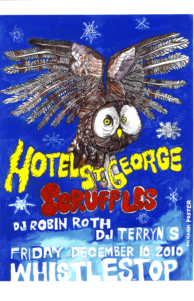 Hotel St. George + Scruffles Concert Poster
