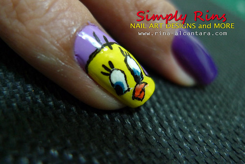 Nail Art Tweety 02