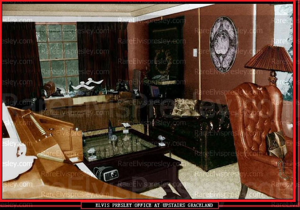 Elvis Office at Graceland Upstairs RARE !