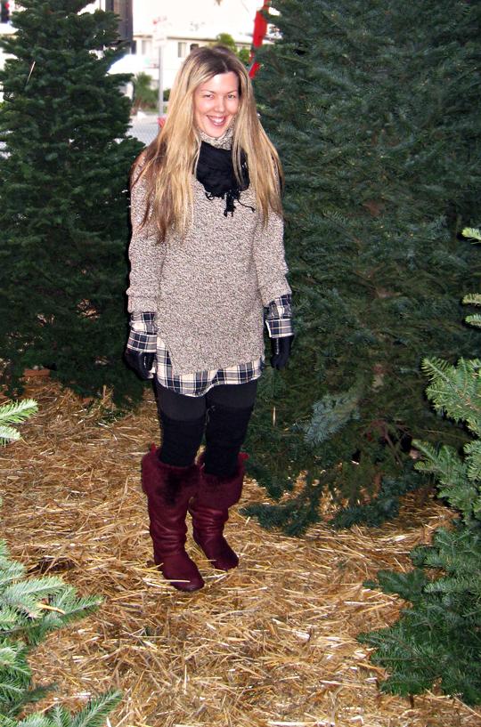at the christmas tree lot + COLD -SH