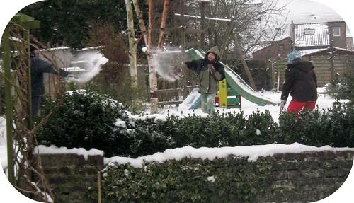 Bataille de neige, décembre 2010