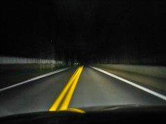 Night Driving (Wires In The Walls) Tags: night driving centerline