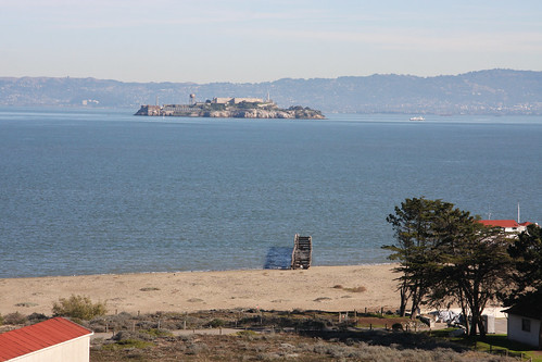 Beach Pier and Alcatraz