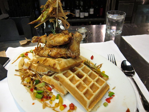 fried chicken & bacon waffle