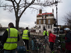 After Christmas lunch at The White Cross (Kingston Cycling Campaign) Tags: kingstoncyclingcampaign