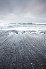 Selatangar (Oscar Bjarna) Tags: longexposure sea beach iceland sand waves lee 1740 selatangar canon5dmkii