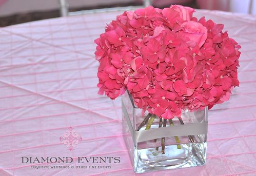 Dark Pink Wedding Centerpieces