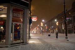 Premire tempte de neige de l'hiver! 2010 (-AX-) Tags: street snow canada night evening downtown snowstorm des qubec neige soir rue nuit qc forges centreville tempte troisrivires