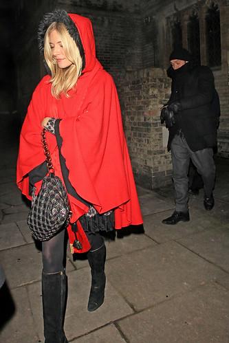 Sienna Miller red cape