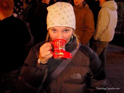 Warm Gluhwein from a Boot - Bonn, Germany