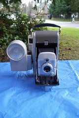Polaroid Highlander Model 80A with Wink Light (faithapatton) Tags: camera vintage polaroid highlander retro landcamera winklight ohthanks