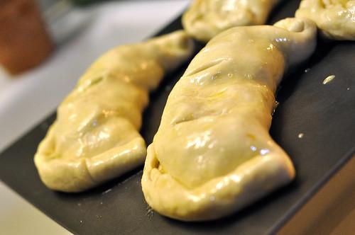 Veggie Artichoke and Olive Calzones