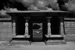 Beyond.. (Bud Lu & Bud Kee) Tags: sky blackandwhite architecture facade ruins gate beyond homepage hampi carchitecture ourlifestory