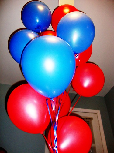 Superman Balloons for Brady