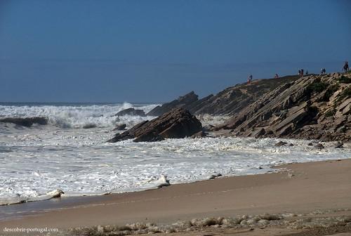 Rocas e agua do mar