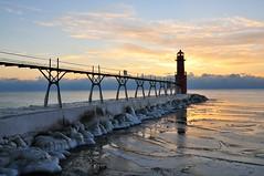 Puzzled lighthouse (early morning light) Tags: lighthouse ice sunrise algoma