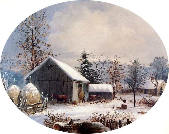 Farmstead in Winter 1855