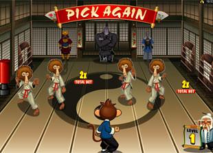 free Kung Fu Monkey bonus game level 1
