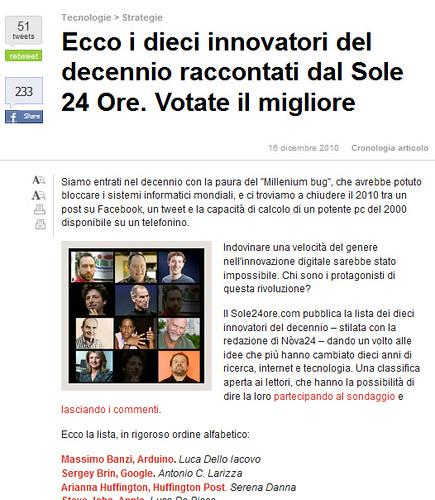 10 Innovatori - Il Sole 24 Ore