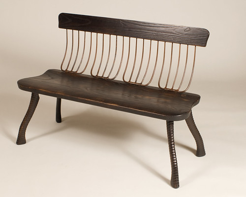 Charred Ash Pitchfork Bench