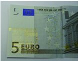 Electronic 5 Euro note