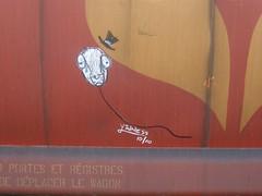 the wack 2010. (broodbrood) Tags: street portrait art face vancouver train graffiti head drawing character tag balloon floating trains tags east marker van brood moniker
