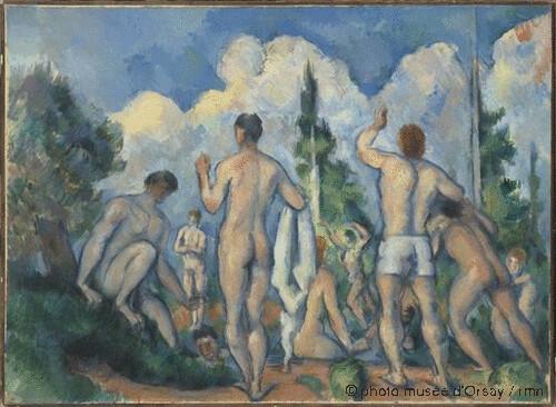Baigneurs, Paul Cézanne, 1890