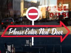 Please Enter Next Door (SeeMidTN.com (aka Brent)) Tags: house sign tn please tennessee handpainted enter shelbyville nextdoor hobble bedfordcounty bmok bmok2