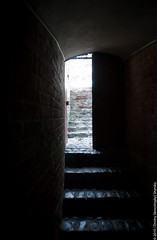Kamenets Tower: The Open Door (lemmingby) Tags: stairs travels interiors bricks towers trips walls belarus museums lightplay kamenets brestregion