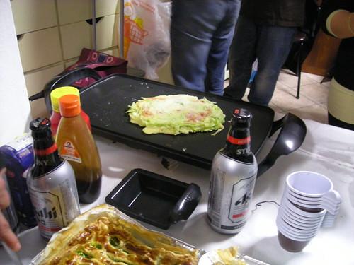 Okonomiyaki nella mia piastra giapponese