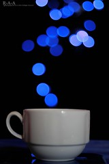 Color your Bokeh (color ur life) 2\30 [Explore]^^ (Randa Abdul) Tags: blue color cup tea bokeh coffe