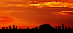 Chicago sunrise 2010. (fotogjohnh!! Photostream.seen by milions!) Tags: chicago sunrise over august 2010 cloudsstormssunsetssunrises