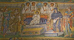 Worship the Newborn King (Lawrence OP) Tags: rome star christ mosaic basilica jesus angels virginmary magi wisemen epiphany santamariamaggiore stmarymajor