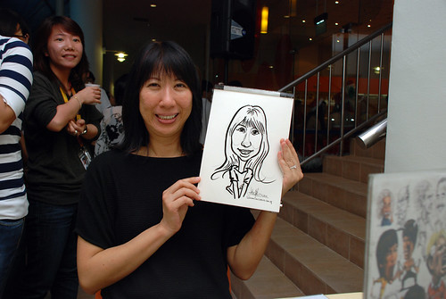 Caricature live sketching for BAT White Christmas Party 2010 - 27