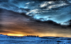 Ground Blizzard Sunrise (turbguy - pro) Tags: sunrise wyoming laramie groundblizzard