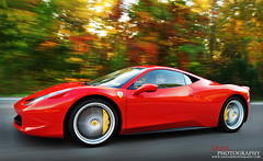Ferrari Four Five Eight (Derek Walker Photo (Derk Photography)) Tags: red car nikon ferrari exotic panning rolling derk 458