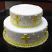 Yellow Cross Baptism Cake