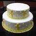 Yellow Cross Baptism Cake