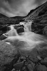 Ravenstones & Waterfall (andy_AHG) Tags: winter water outdoors rocks yorkshire scenic waterfalls streams pennines beautifulscenery britishcountryside landscapephotography outdooractivities saddleworthmoor greenfieldreservoir northernbritain greenfieldbrook ravenstonesbrow trinnaclestone