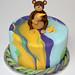 Tie Dye Monkey Cake