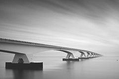 That bridge again (George Goodnight) Tags: longexposure bridge blackandwhite nikon zeeland netherland zeelandbridge nikond300 georgegoodnightphotography