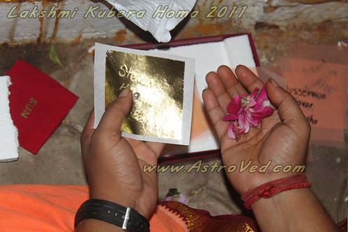 Acquire material growth with Lakshmi Kubera Homa | Flickr - Photo ...