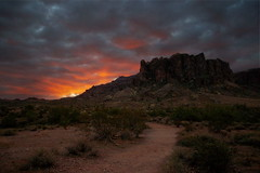 Dawn comes to the Desert (NatalieBrokaw) Tags: arizona sunrise dawn raw desert superstition superstitionmountain sonorandesertsky