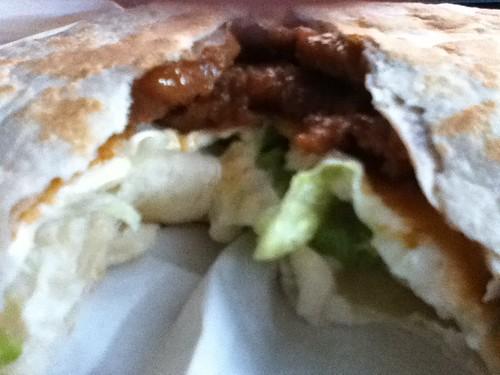 2011-01-04 - KFC - 02 - Beef burrito innards