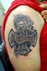 dragon and cross tattoo Tattooed by Johnny