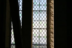 Mesh Cathedral window (ljamieson) Tags: light church window glass cathedral mesh religion medieval crisscross salisburycathedral medievalarchitecture diamondpattern