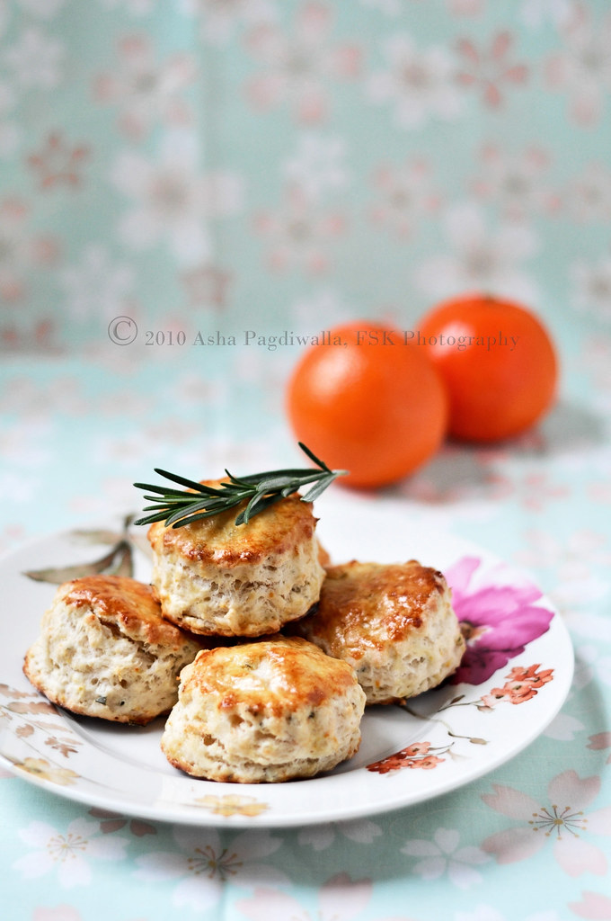 Orange and Rosemary scones