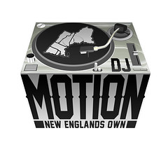 DJ Motion logo (Proph Bundy) Tags: new atlanta england music motion boston logo island design vermont dj graphic connecticut maine hampshire turntable entertainment technic 1200 rhode turntablist prophbundy