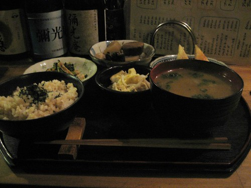 vegetarian dinner set at mikoan